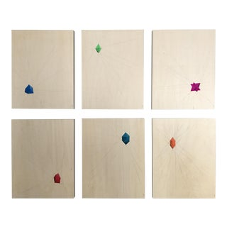 Geometric Abstract Paintings - Set of 6