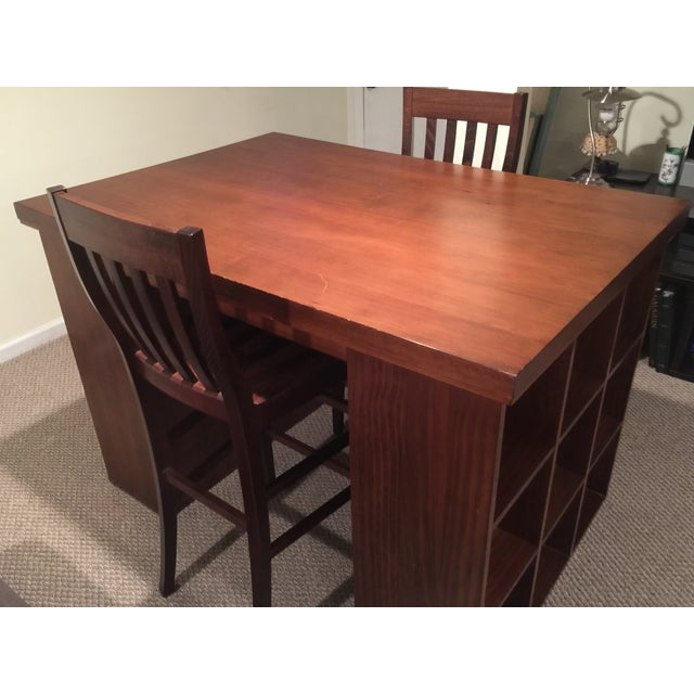 Pottery Barn Project Table & Two Matching Chairs - Image 3 of 8