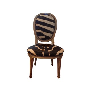 French Louis XVI Style Children's Chair in Zebra