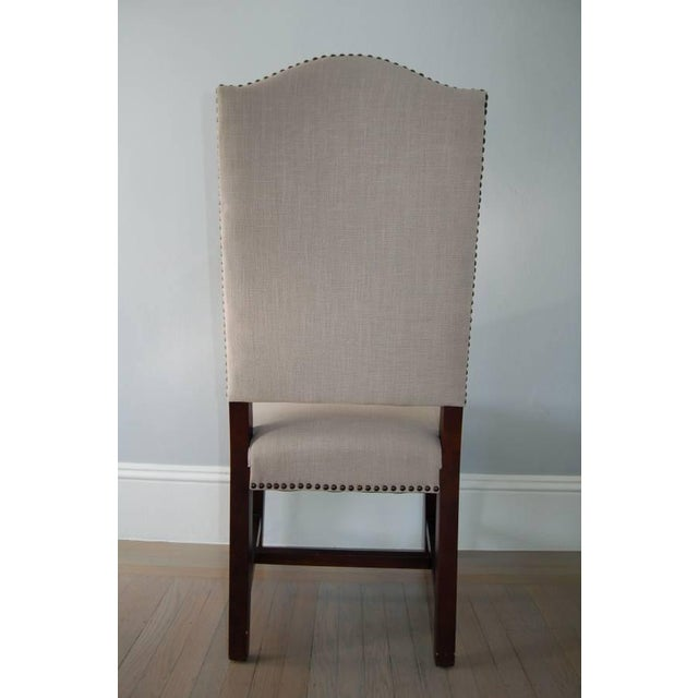 High Back Upholstered Dining Chairs - Pair - Image 4 of 5