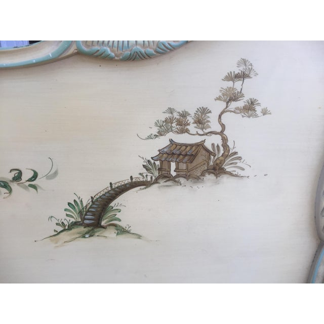 Asian Style Hand Painted King Headboard - Image 6 of 7