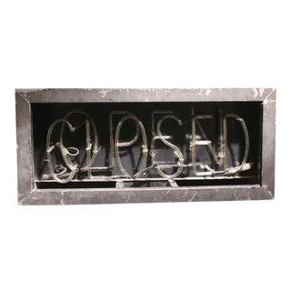 1930's Neon Open/Closed Sign
