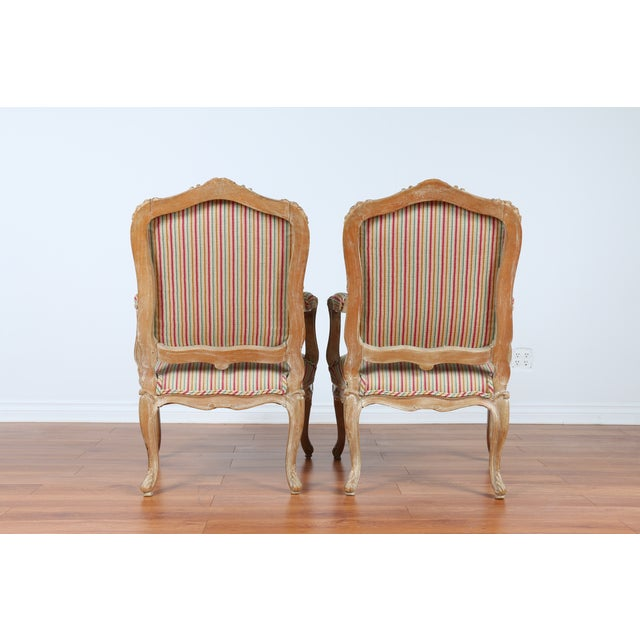 Antique 1920s French Style Armchairs - A Pair - Image 6 of 9
