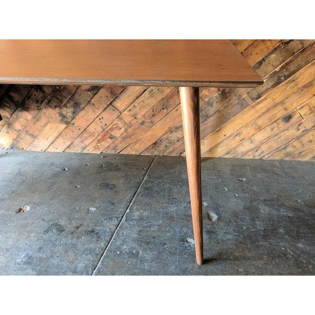 Custom Large Mid Century Style Walnut Desk - Image 6 of 11