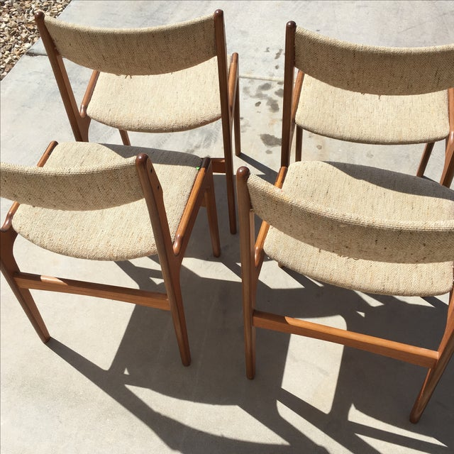 Mid-Century Modern Danish Dining Chairs - Set of 4 - Image 4 of 10