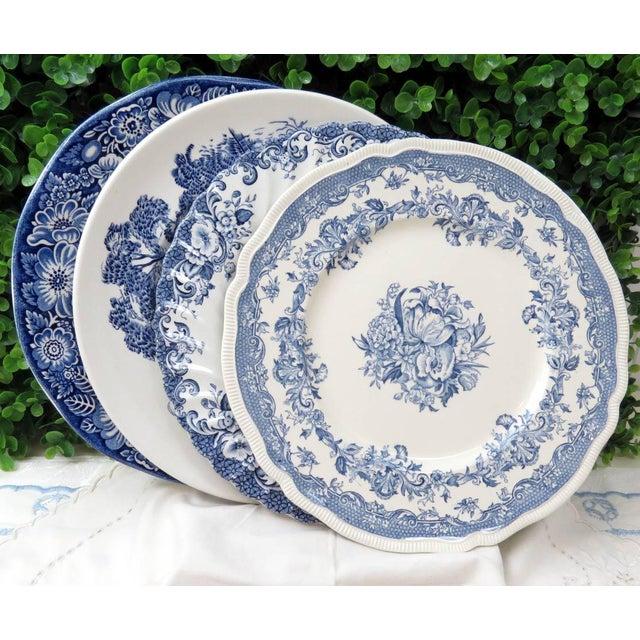 Vintage Mismatched Ironstone Dinner Plates - Set of 4 - Image 11 of 11