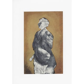 Ray Beldner Gray Figure Collage on Board