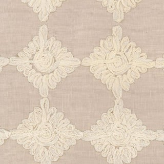 Rosette Embroidery by Schumacher