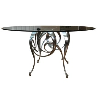 Chrome Italian Dining Room Table