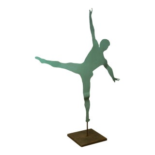 Mid Century Modern Large Dancing Ballerina Metal Garden Sculpture (D)