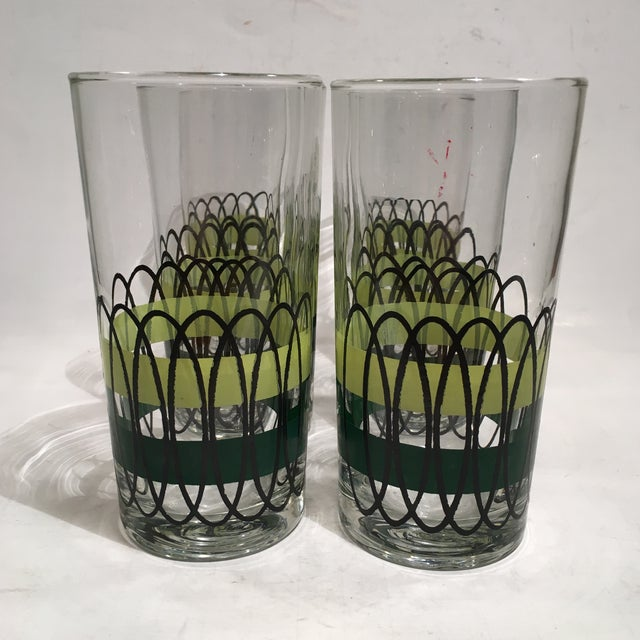 Green and Black Libbey Tumblers - S/6 - Image 2 of 6