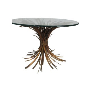 Sheaf of Wheat Gold Gilt Metal Coffee Table
