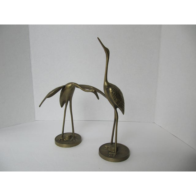 Solid Brass Egrets - Image 5 of 6