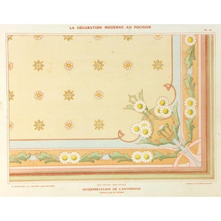 Antique French Interior Decoration Print, C. 1890