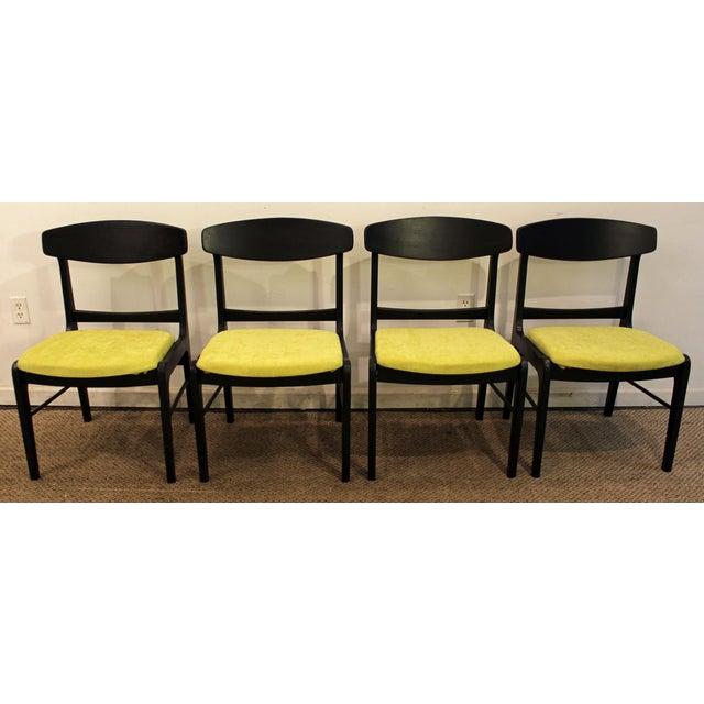 Mid-Century Danish Modern Ebonized 'Citron' Curved Back Dining Chairs - Set of 4 - Image 3 of 11