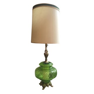 Lime Green Vintage Lamp