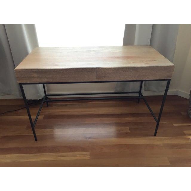 Image of West Elm Rustic Storage Desk