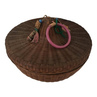 Antique Chinese Lidded Basket