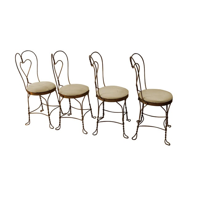 Vintage Wrought Iron Ice Cream Parlor Set - Image 6 of 10