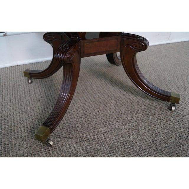 Custom English Regency Style Drop Leaf Side Table - Image 7 of 10