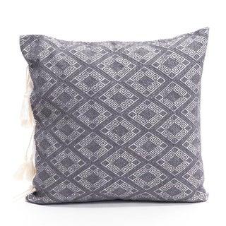 Slate Grey Diamonds Handwoven Pillow Cover