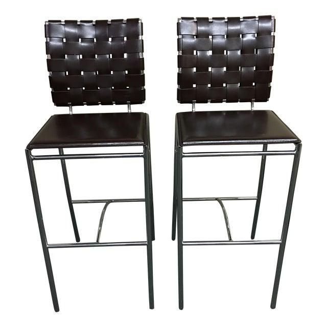 Eurostyle Carina Leather Bar Stools- APair - Image 1 of 7