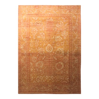 "Hand Knotted Oushak Rug - 13'3"" X 9'6"""