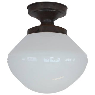 Large 1920s School House Ceiling Light