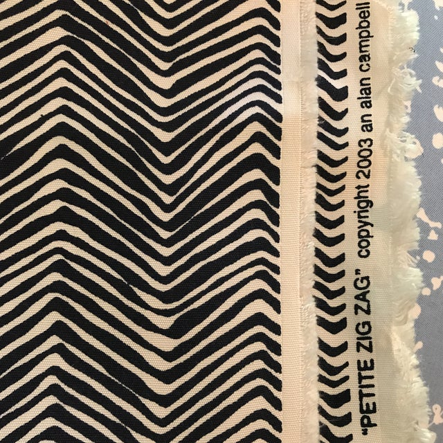 Quadrille Alan Campbell Petite Zig Zag Fabric - 2 2/3 Yards - Image 2 of 4