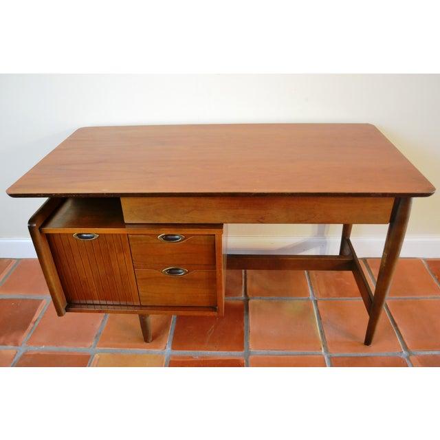 Hooker Mid-Century Walnut Small Floating Desk - Image 4 of 8