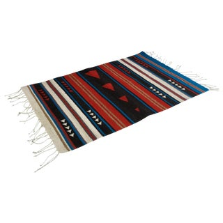 Red & Blue Flecha Wool Rug - 2' X 3'