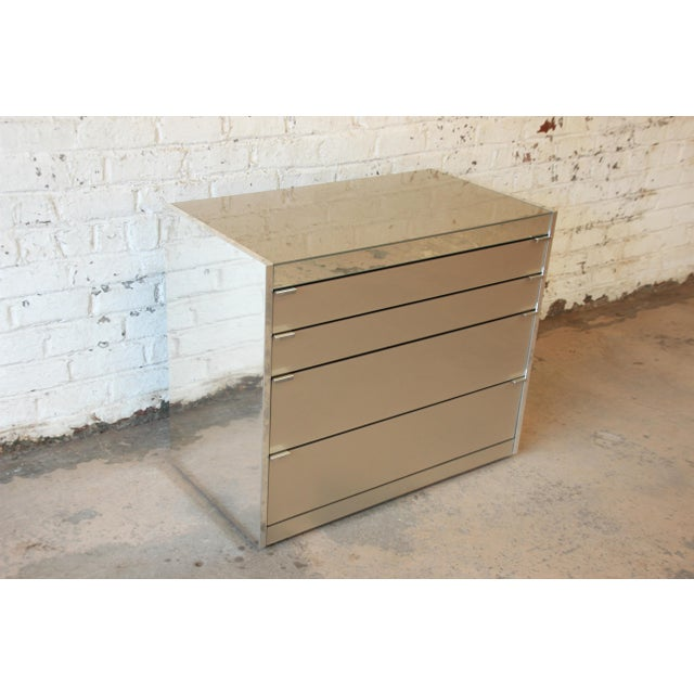 Guy Barker for Ello Mid-Century Mirrored Chest of Drawers - Image 3 of 9