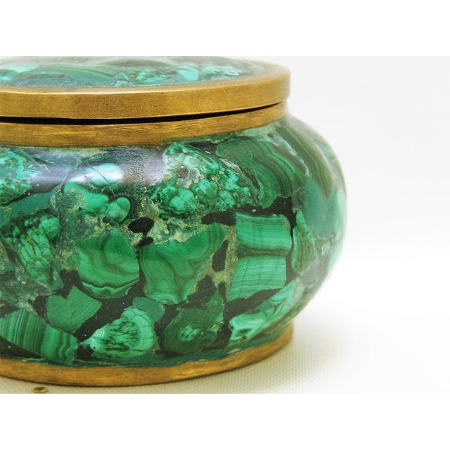 Round Malachite Lidded Box - Image 8 of 8