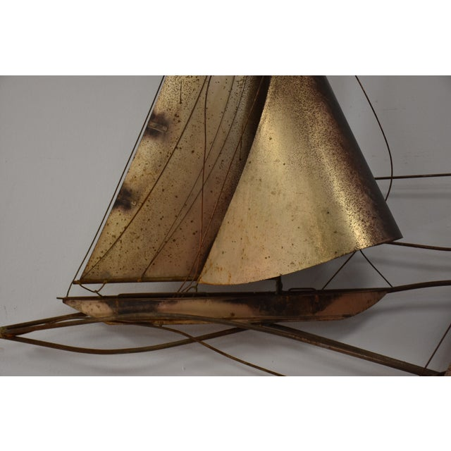 Curtis Jere Sailboat Wall Hanging Sculpture - Image 4 of 11