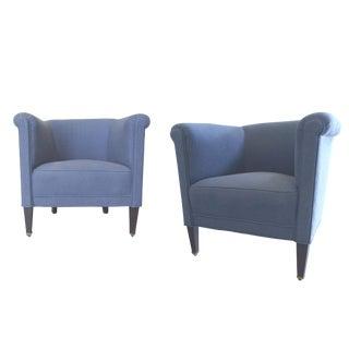 1930's Art Deco Club Chairs - A Pair