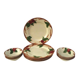 Franciscan Apple Dinner Plates & Coupe Bowls - Set of 12
