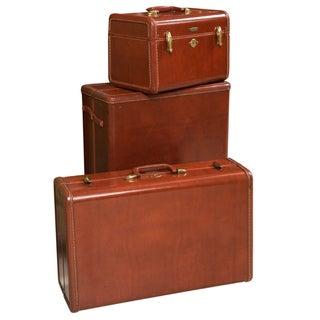 Samsonite Art Deco Leather Suitcases - Set of 3