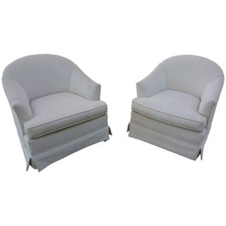 1970s Barrel Back Lounge Chairs - A Pair