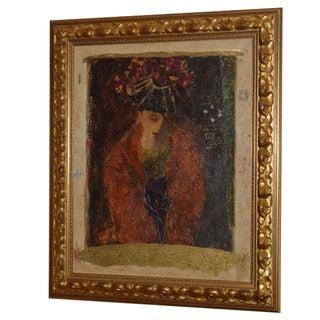 "Roy Fairchild ""Masked Figure"" Serigraph on Canvas"