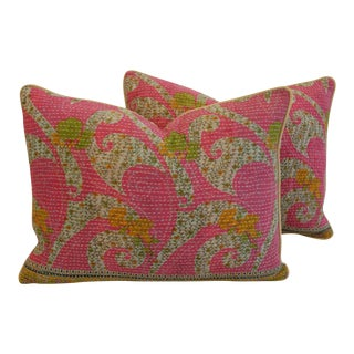 Vintage Kantha Textile Pillows - A Pair