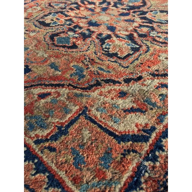 """Vintage Persian Heriz Door Mat Rug - 2'1"""" x 2'8"""" - Image 7 of 8"""