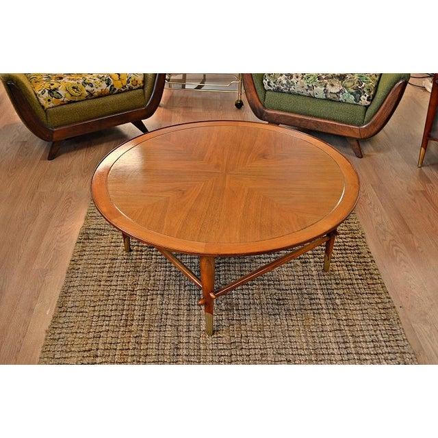 Image of Lane Mid Century Danish Style Copenhagen Round Coffee Table - Lane Mid Century Danish Style Copenhagen Round Coffee Table Chairish