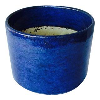 Gainey Blue Glazed Planter Pot
