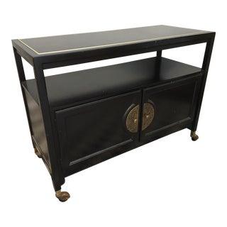 Black Asian Chinoiserie Server Cart