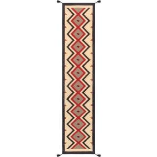 "Navajo Style Hand-Woven Runner - 2' 6"" X 11'10"""