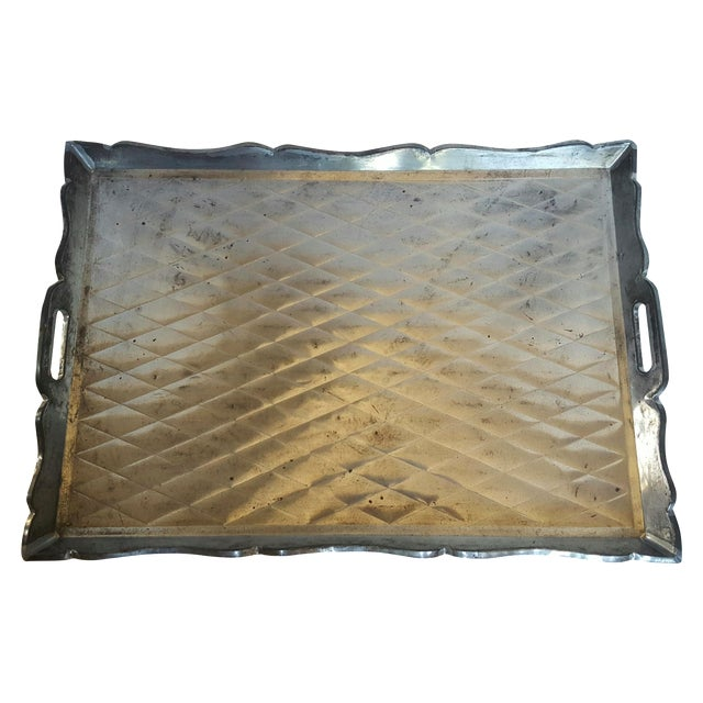 Mexican Quilted Metal Tray - Image 1 of 3