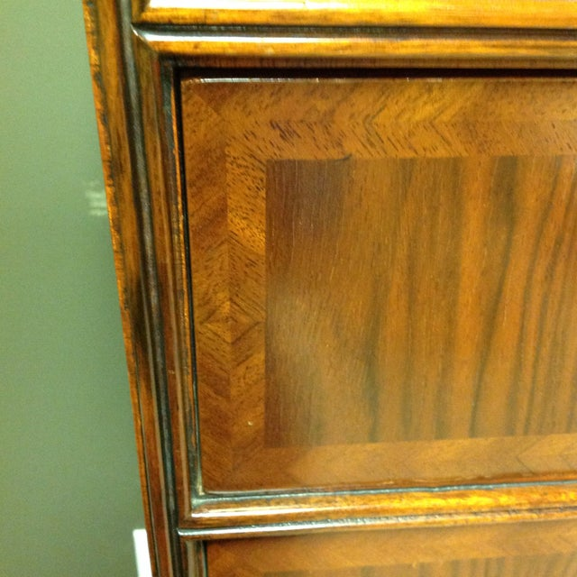 2 Piece Maitland-Smith Walnut Chest on Stand - Image 5 of 6