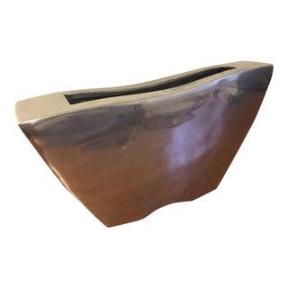 Modern Silver Metal Planter
