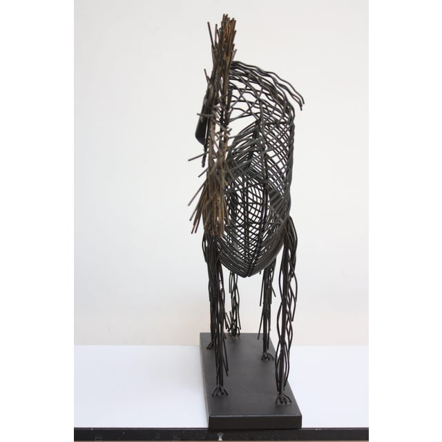 Brutalist Style Lion Wire Scupture - Image 9 of 11