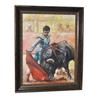The Matador and the Bull Oil Painting by R. Basso